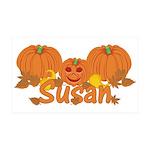 Halloween Pumpkin Susan 35x21 Wall Decal