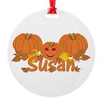 Halloween Pumpkin Susan Round Ornament