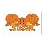 Halloween Pumpkin Susan Car Magnet 20 x 12
