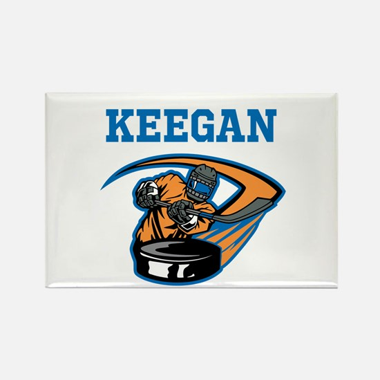 Personalized Hockey Rectangle Magnet