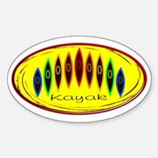 Neon Kayak Rainbow Decal