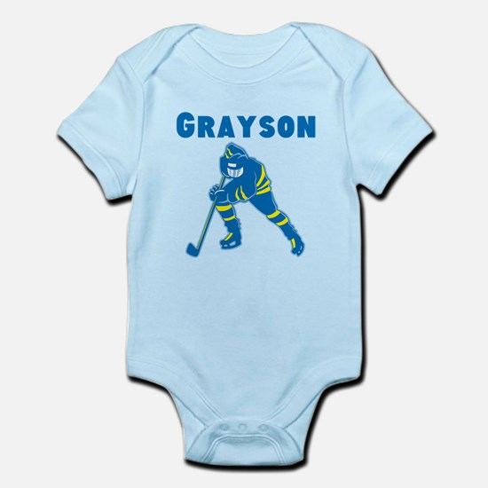 Personalized Hockey Infant Bodysuit