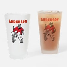 Personalized Hockey Drinking Glass