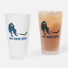 Personalized Hockey Drinking Glass