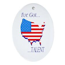 I've Got Talent Oval Ornament