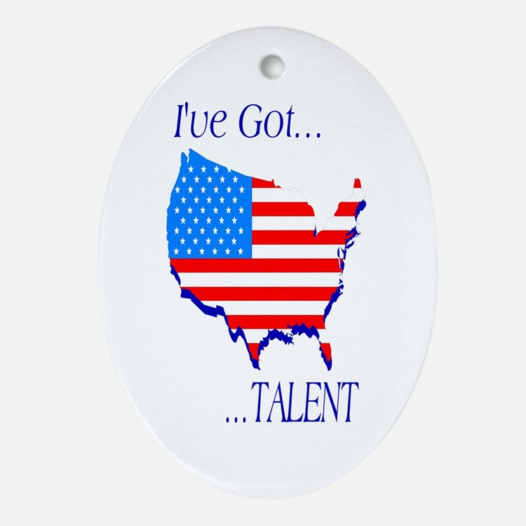 I've Got Talent Oval Ornament