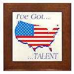 I've Got Talent Framed Tile