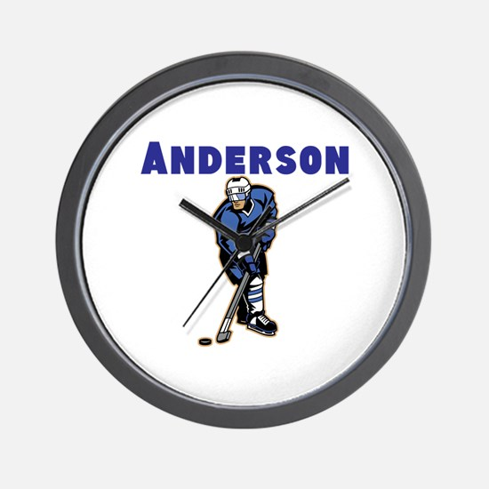 Personalized Hockey Wall Clock