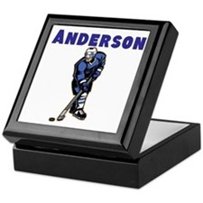Personalized Hockey Keepsake Box