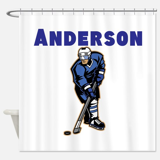 Personalized Hockey Shower Curtain