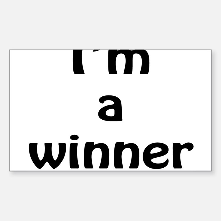 I'm a winner Sticker (Rectangle)