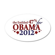 Entitled 47% For Obama 2012 Wall Decal