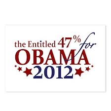 Entitled 47% For Obama 2012 Postcards (Package of