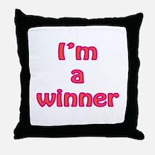 I'm a winner Throw Pillow
