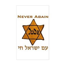 Yellow Star Rectangle Bumper Stickers