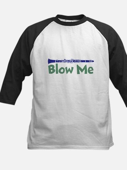 Blow me clarinet Kids Baseball Jersey