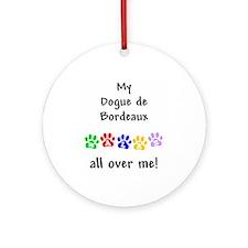 Dogue Walks Ornament (Round)