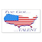 I've Got Talent Rectangle Sticker