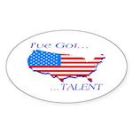 I've Got Talent Oval Sticker