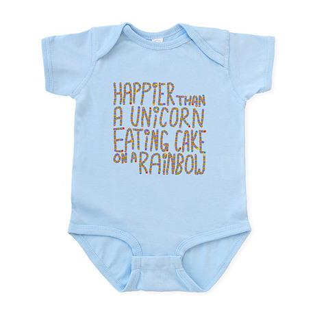 Happier Than A Unicorn... Infant Bodysuit