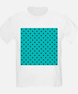 Teal and Black Polka Dot. T-Shirt