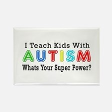 I Teach Kids With Autism Rectangle Magnet (10 pack