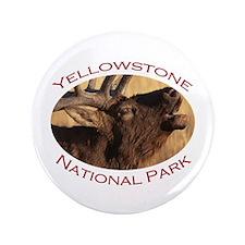 "Yellowstone National Park...Elk Bugle 3.5"" Button"