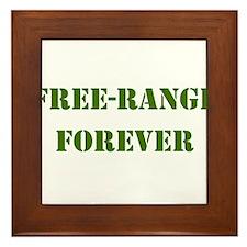 FREE-RANGE FORVER ARMY GREEN Framed Tile