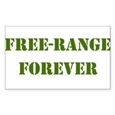 FREE-RANGE FORVER ARMY GREEN Decal