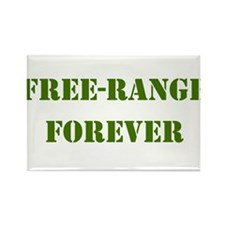 FREE-RANGE FORVER ARMY GREEN Rectangle Magnet