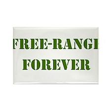 FREE-RANGE FORVER ARMY GREEN Rectangle Magnet