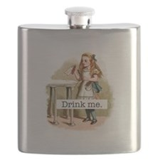 Drink Me Alice in Wonderland Flask