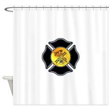 Firefighter Logo Shower Curtain
