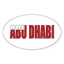 Abu Dhabi Oval Decal
