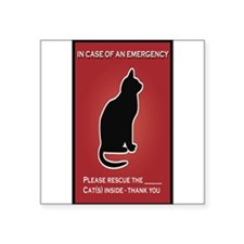 Cat Emergency Sticker Red Sticker