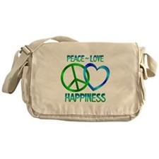 Peace Love Happiness Messenger Bag