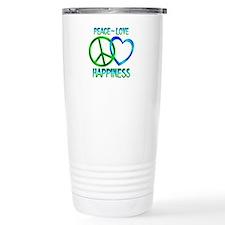 Peace Love Happiness Travel Mug