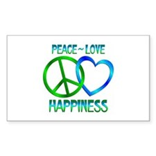 Peace Love Happiness Decal