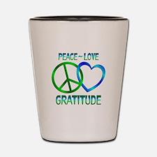 Peace Love Gratitude Shot Glass