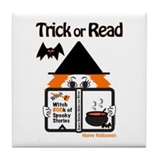 Trick or READ Tile Coaster