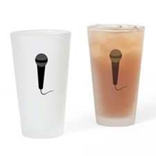 Black Microphone Drinking Glass