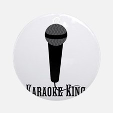 Karaokr King Black Microphone Ornament (Round)