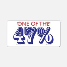 Forty-seven percent Aluminum License Plate