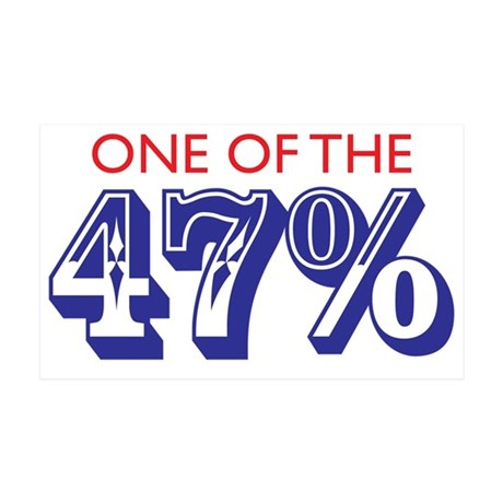 Forty-seven percent 35x21 Wall Decal