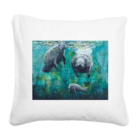 Three Sisters Square Canvas Pillow