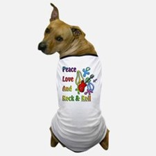 Peace Love & Rock n Roll Dog T-Shirt