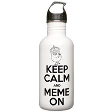 Keep Calm and Meme On Water Bottle