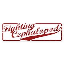 Miskatonic Fighting Cephalopods Bumper Bumper Sticker