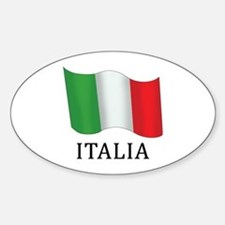 Italia Flag Sticker (Oval)