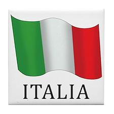Italia Flag Tile Coaster